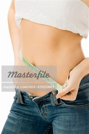 close up of a girl measuring her self with a green meter Stock Photo - Budget Royalty-Free, Image code: 400-03915883