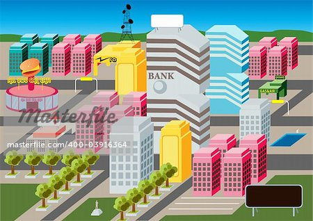At the heart of MicroCity lays the busy urban city life. Stock Photo - Budget Royalty-Free, Image code: 400-03916364