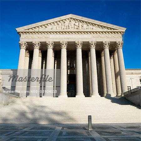 Front of Supreme Court building in Washington, DC. Stock Photo - Budget Royalty-Free, Image code: 400-03924113