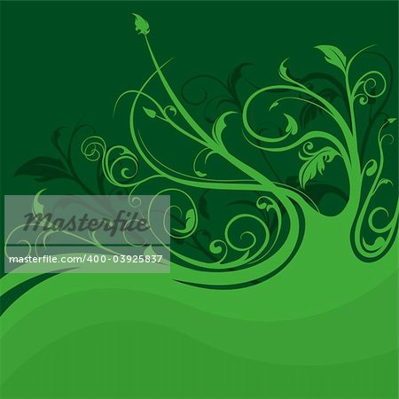 Floral background 08 - Highly detailed vector background illustration