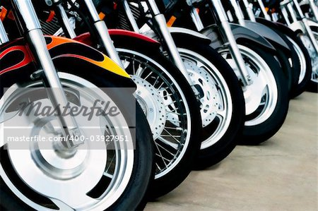 Detail shots of motorcycles. Stock Photo - Budget Royalty-Free, Image code: 400-03927951