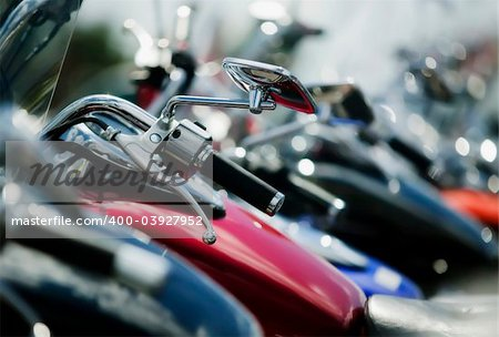 Detail shots of motorcycles. Stock Photo - Budget Royalty-Free, Image code: 400-03927952
