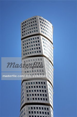 Turning Torso in Malmo, Sweden. A office and apartment building