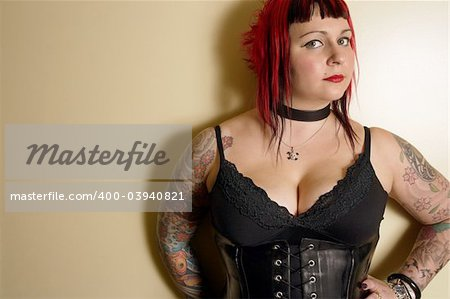 Portrait of a goth Queen. Stock Photo - Budget Royalty-Free, Image code: 400-03940821
