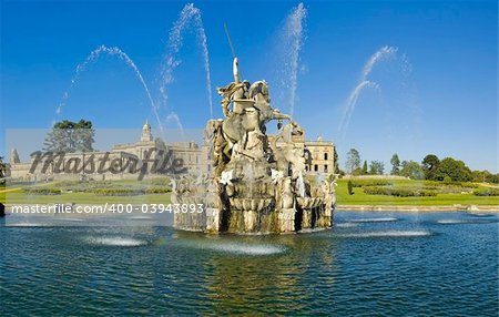 Witley Court Country House Worcestershire Midlands England Perseus and Andromeda fountain Stock Photo - Budget Royalty-Free, Image code: 400-03943893