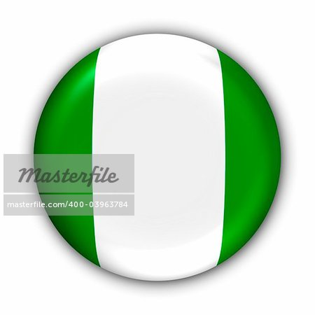 World Flag Button Series - Africa - Nigeria (With Clipping Path) Stock Photo - Budget Royalty-Free, Image code: 400-03963784