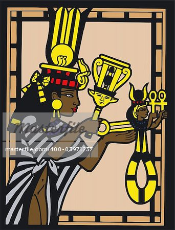 Illustration of Egyptian Silouette - Vector Stock Photo - Budget Royalty-Free, Image code: 400-03971237