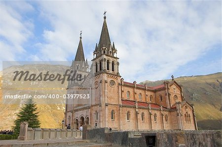 Given the cathedral Covadonga in Asturias, Spain Stock Photo - Budget Royalty-Free, Image code: 400-03977523