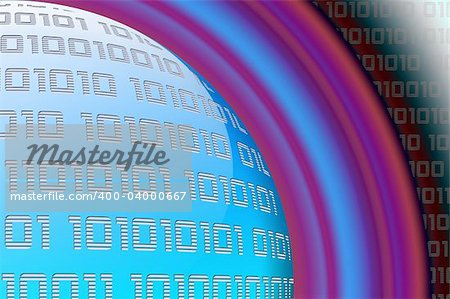Abstract digital background with blue globe