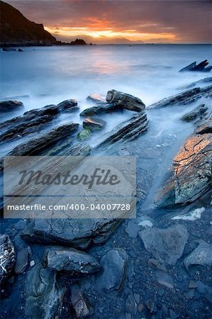 Rocks on the sea of Barrika, Bizkaia (Spain) Stock Photo - Budget Royalty-Free, Image code: 400-04007728