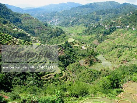 Banaue rice terraces in Ifugao province, Philippines. Stock Photo - Budget Royalty-Free, Image code: 400-04012117