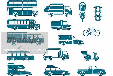 All types of City Transport Stock Photo - Budget Royalty-Free, Image code: 400-04019569
