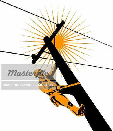 Vector art of a lineman