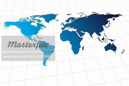 Vector - Modern global world map with metallic wave Stock Photo - Budget Royalty-Free, Image code: 400-04024971