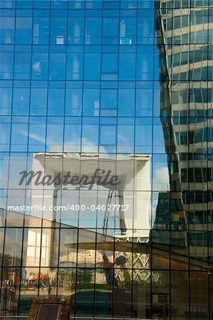 Reflecting cube of La Defense, Paris (France) Stock Photo - Budget Royalty-Free, Image code: 400-04027717