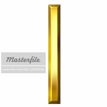 3d golden letter l isolated in white Stock Photo - Budget Royalty-Free, Image code: 400-04050566