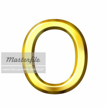 3d golden letter o isolated in white Stock Photo - Budget Royalty-Free, Image code: 400-04050567