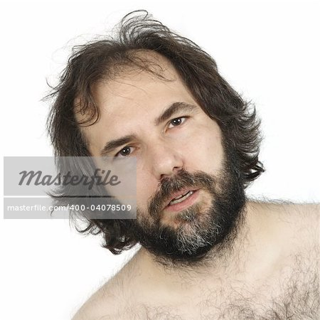 A male in his late thirties with a dumbfounded look on his face. Stock Photo - Budget Royalty-Free, Image code: 400-04078509
