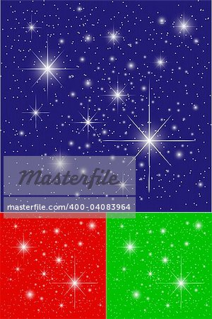 Twinkling Stars on Blue, Green and Red Backgrounds Stock Photo - Budget Royalty-Free, Image code: 400-04083964