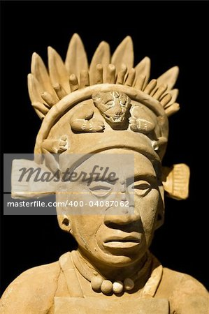 Mexican statue of a noble man Stock Photo - Budget Royalty-Free, Image code: 400-04087062