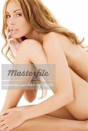 picture of healthy naked woman over white Stock Photo - Budget Royalty-Free, Image code: 400-04110073