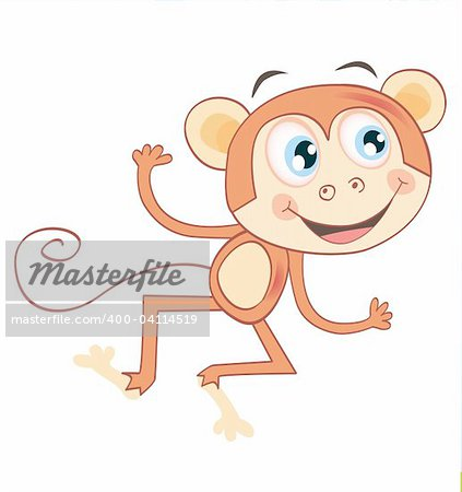 Funny jumping animal. Vector Illustration. See similar pictures in my portfolio! Stock Photo - Budget Royalty-Free, Image code: 400-04114519
