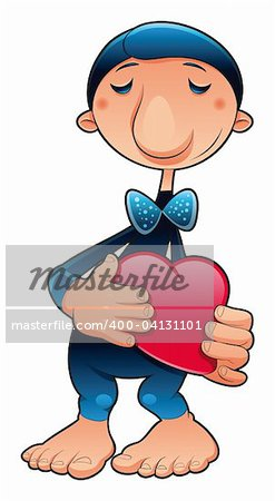 funny character in love, vector cartoon illustration Stock Photo - Budget Royalty-Free, Image code: 400-04131101