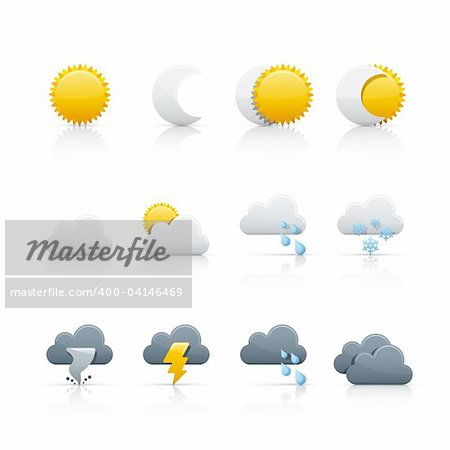 Set of icons on white background in Adobe Illustrator EPS 8 format for multiple applications.