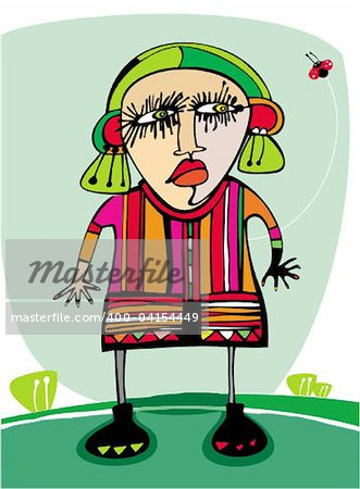 Cute angry girl outdoors Stock Photo - Budget Royalty-Free, Image code: 400-04154449