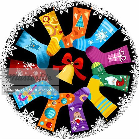 vector illustration of a christmas stocking Stock Photo - Budget Royalty-Free, Image code: 400-04155936