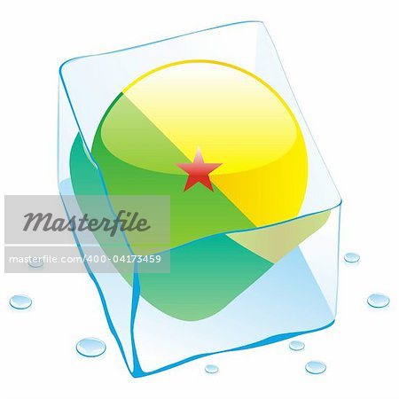 fully editable vector illustration of guyana button flag frozen in ice cube Stock Photo - Budget Royalty-Free, Image code: 400-04173459