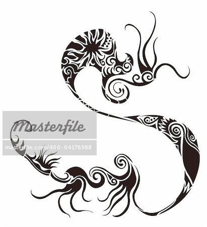 drawing of flower pattern in a white background