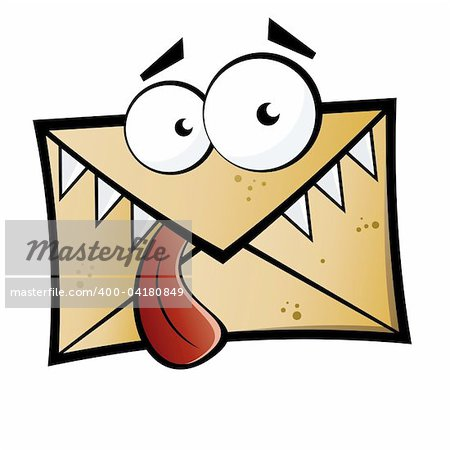 Funny cartoon letter monster Stock Photo - Budget Royalty-Free, Image code: 400-04180849