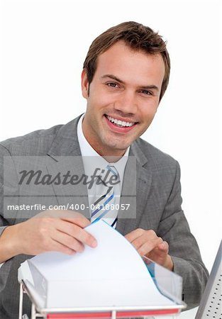 Smiling mature businessman Stock Photo - Budget Royalty-Free, Image code: 400-04188057