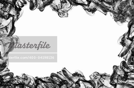 frame made of black smoke on white background Stock Photo - Budget Royalty-Free, Image code: 400-04198136