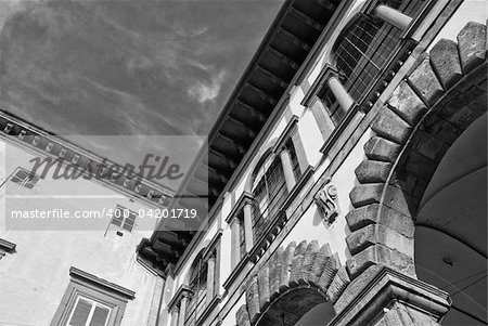 Architecture and Arts Detail of Lucca in Tuscany, Italy Stock Photo - Budget Royalty-Free, Image code: 400-04201719