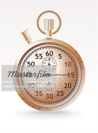 vector grunge stopwatch - vector illustration