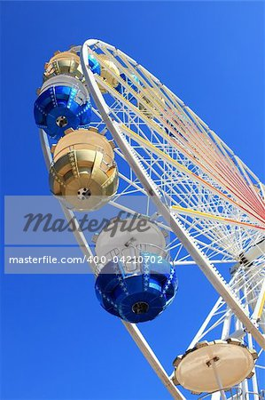 Detail of Merry-go-round against blue sky Stock Photo - Budget Royalty-Free, Image code: 400-04210702