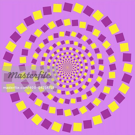 Abstract design with geometric shapes optical illusion illustration Stock Photo - Budget Royalty-Free, Image code: 400-04214718