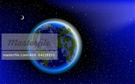 Blue Marble, planet Earth in space Stock Photo - Royalty-Free, Artist: CarpathianPrince, Code: 400-04218120