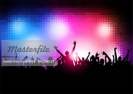 New Wave Party People - Large party vector background. Stock Photo - Budget Royalty-Free, Image code: 400-04219013