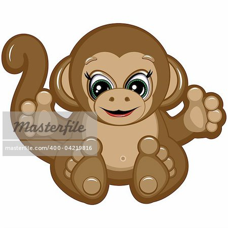 Little Monkey - one of the symbols of the Chinese horoscope Stock Photo - Budget Royalty-Free, Image code: 400-04219816