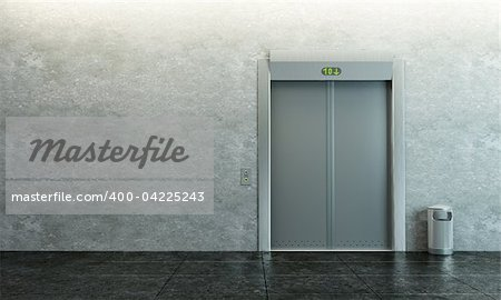 modern elevator with closed doors Stock Photo - Budget Royalty-Free, Image code: 400-04225243