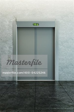 modern elevator with closed doors Stock Photo - Budget Royalty-Free, Image code: 400-04225246