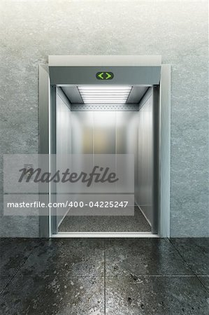 modern elevator with open doors Stock Photo - Budget Royalty-Free, Image code: 400-04225247