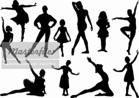 Ballet silhouette Stock Photo - Budget Royalty-Free, Image code: 400-04227511