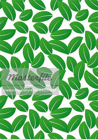 Seamless green leaf background - vector include pattern source - easy to modify