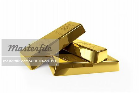 gold on a white background