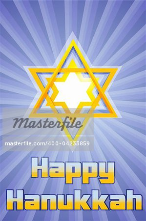 illustration of happy hanukkah with star of david Stock Photo - Budget Royalty-Free, Image code: 400-04233859