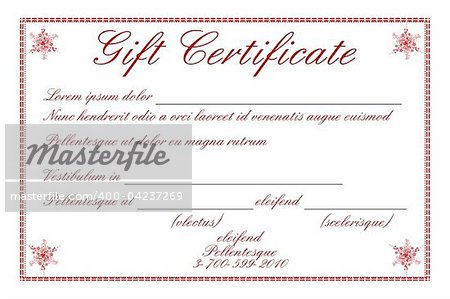 illustration of gift certificate on white background Stock Photo - Budget Royalty-Free, Image code: 400-04237269